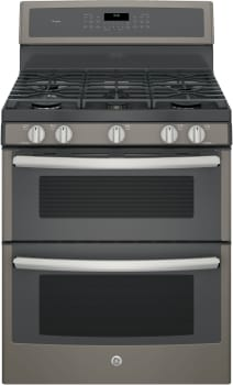 GE Profile PGB960EEJES - GE Profile Series Freestanding Gas Double Oven Range with 5 Sealed Burners Including Dual Oval Burner