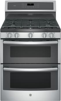 GE Profile PGB960SEJSS - GE Profile Series Freestanding Gas Double Oven Range with 5 Sealed Burners Including Dual Oval Burner
