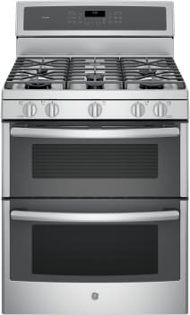 "GE Profile PGB980ZEJSS - GE Profile Series 30"" Gas Double Oven Range with Dual-Purpose Center Burner"