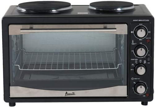 Avanti POB11A1B - 1.1 cu. ft. Multi-Function Oven with Two (2) Cooktop Burners
