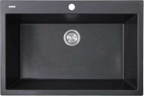 Nantucket Sinks Plymouth Collection PR3322DMBL - Black Top View