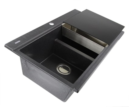 Nantucket Sinks Plymouth Collection PR3420PSBL - Black Side View