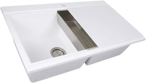 Nantucket Sinks Plymouth Collection Pr3420psw White Angled View