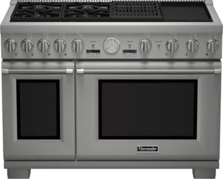 "Thermador Pro Grand Professional Series PRD484NCGU - 48"" Dual Fuel Steam Range with Grill and Griddle"
