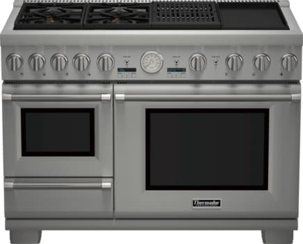 "Thermador Pro Grand Steam Professional Series PRD48NCSGU - 48"" Professional Series Pro Grand Commercial Depth Dual Fuel Steam Range"