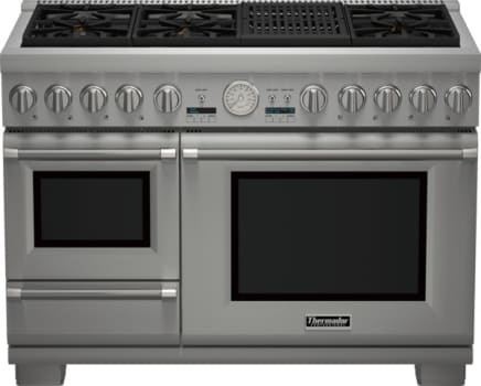 "Thermador Pro Grand Steam Professional Series PRD48NLSGU - 48"" Professional Series Pro Grand Commercial Depth Dual Fuel Steam Range"