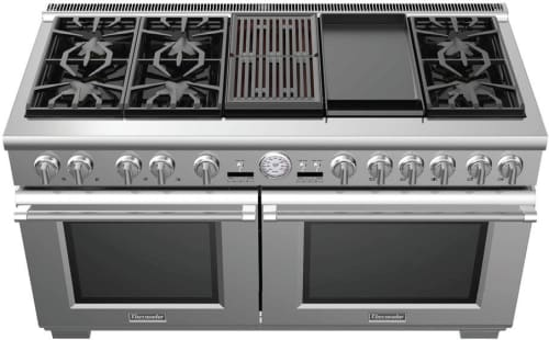 "Thermador Pro Grand PRD606RCG - 60"" Pro Grand Dual Fuel Range with 6 Star Burners, 12 Inch Electric Griddle, 12 Inch Electric Grill and Warming Drawer"