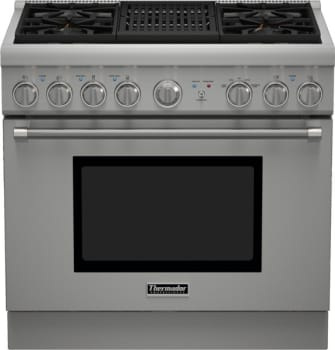 "Thermador Pro Harmony Professional Series PRG364NLH - 36"" Pro Harmony Gas Range with 4 Star Burners and Indoor Electric Grill"