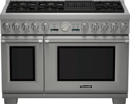 "Thermador Pro Grand Professional Series PRL486NLG - 48"" Pro Grand Gas Range with 4 Star Burners and Indoor Electric Grill"