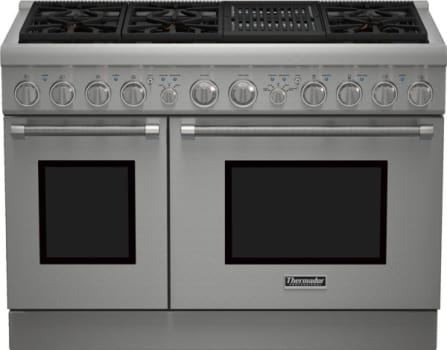 "Thermador Pro Harmony Professional Series PRG486NLH - 48"" Pro Harmony Gas Range with 6 Star Burners and Indoor Electric Grill"