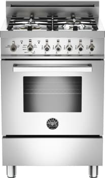 "Bertazzoni Professional Series PRO244GASX - 24"" 4-Burner, Gas Oven"