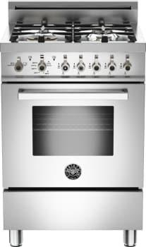 "Bertazzoni Professional Series PRO244GAS - 24"" 4-Burner, Gas Oven"