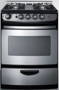 Summit White Pearl Series PRO246SSRT - White Pearl Gas Range from Summit