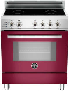 "Bertazzoni Professional Series PRO304INSVI - 30"" Professional Series Induction Range in Vino Burgundy"