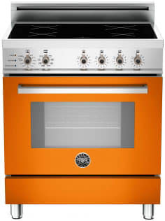 "Bertazzoni Professional Series PRO304INSAR - 30"" Professional Series Induction Range in Arancio Orange"