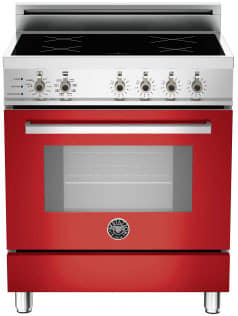 "Bertazzoni Professional Series PRO304INSRO - 30"" Professional Series Induction Range in Rosso Red"