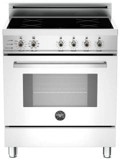 "Bertazzoni Professional Series PRO304INSBI - 30"" Professional Series Induction Range in Bianco Pure White"