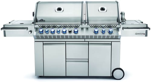 "Napoleon Prestige PRO Series PRO825RSBIPSS - 95"" Stainless Steel Barbecue Grill with 123,000 Total BTU Grilling Power"