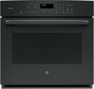"GE Profile PT7050DFBB - 30"" True European Convection Wall Oven in Black"