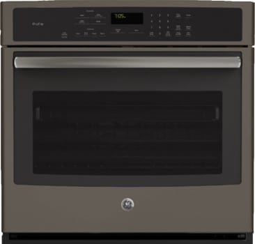 "GE Profile PT7050EHES - 30"" True European Convection Wall Oven in Slate"