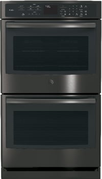 GE Profile PT7550 - Black Stainless Steel Front View