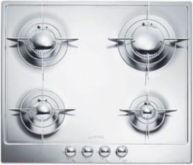 "Smeg Piano Design PU64ES - 24"" Piano Design Gas Cooktop in Polished Stainless Steel"
