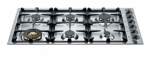 "Bertazzoni Master Series QB36M600X - 36"" Gas Cooktop with 6 Sealed Brass Burners"