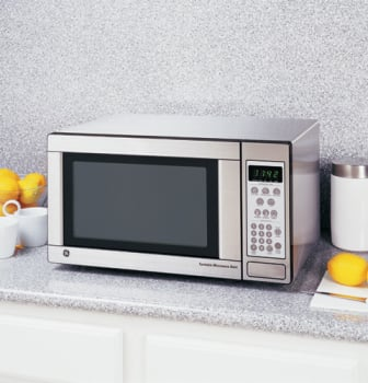 Ge Jes1142sj 1 1 Cu Ft Countertop Microwave Oven With 1 100 Cooking Watts Child Lockout