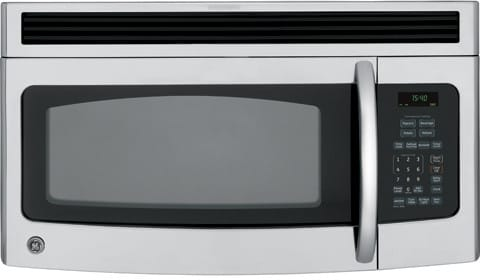 Ge Jnm1541snss 1 5 Cu Ft Over The Range Microwave Oven With 950 Watts Two Speed 300 Cfm Non Venting System And Convenience Cooking Controls Stainless Steel