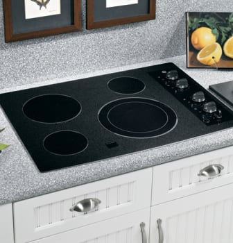 GE CleanDesign JP356BMBB - Black Surface with Black Accents
