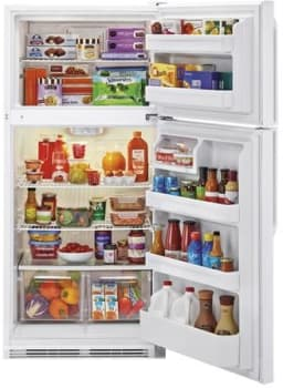 Haier HRT18RCWW - Top-Freezer Refrigerator in White