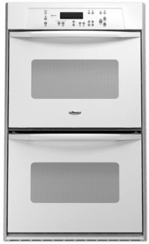 Whirlpool Rbd275prq 27 Inch Double Electric Wall Oven With Accubake System Flush To Cabinet Installation White On White