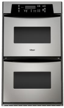Whirlpool Rbd305prs 30 Inch Double Electric Wall Oven With Accubake Self Cleaning Upper Oven Stainless Steel