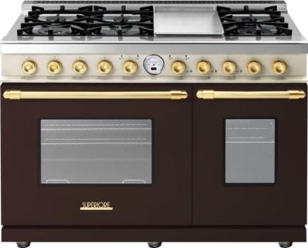 Superiore Deco Series RD482SCMCG - Brown matte cream panel and gold accents
