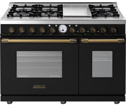 Superiore Deco Series RD482SCNB - Black matte bronze accents