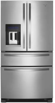 "Whirlpool WRX735SDB - 36"" French-Door Refrigerator with External Refrigerated Drawer"