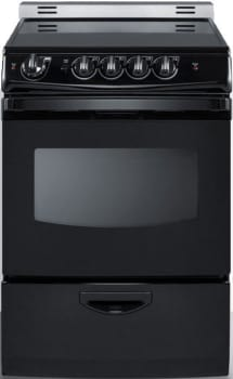 "Summit REX243BRT - 24"" Freestanding Electric Range with 3.0 cu. ft. Manual Clean Oven"