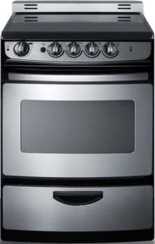 "Summit REX24E - 24"" Freestanding Electric Range with 3.0 cu. ft. Manual Clean Oven"