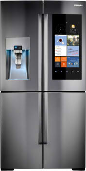 "Samsung RF28K9580SR - 36"" 4-Door FlexZone Stainless Steel Refrigerator with Family Hub WiFi-Enabled LCD Touchscreen"