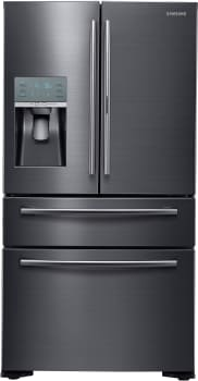 Samsung RF22KREDBSG - 22 cu. ft. Counter-Depth 4-Door French Door Refrigerator in Black Stainless Steel with FlexZone Drawer