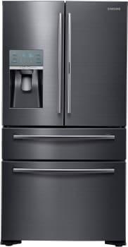 Samsung RF22KREDBSG - 22 cu. ft. Counter-Depth 4-Door French Door Refrigerator in Black Stainless Steel with FlexZone Drawer