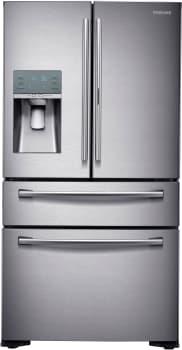 Samsung RF22KREDBSR - 22 cu. ft. Counter-Depth 4-Door French Door Refrigerator in Stainless Steel with FlexZone Drawer