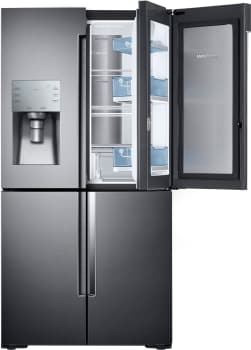 "Samsung RF28K9380SG - 36"" 4-Door Flex Refrigerator with 28 cu. ft. Capacity and Food Showcase Door"