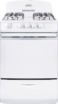 "Summit RG244W - 24"" Freestanding Gas Range with 4 9,100-BTU Burners and 3.0 cu. ft. Oven"