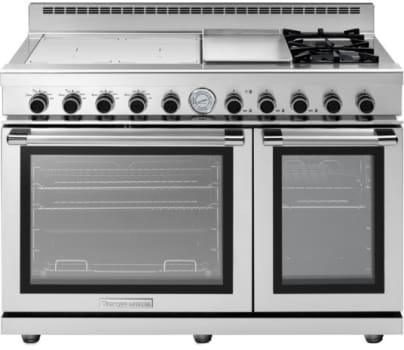 Tecnogas Superiore Next Panoramic Series RN483GPSS - 2 Burner, 4 Induction Zone Range with Panoramic Door Design