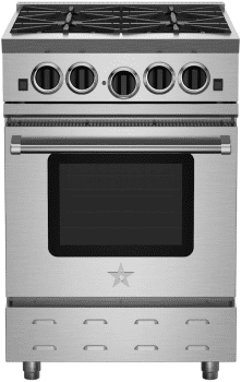 "BlueStar RNB Series RNB244BV2 - 24"" Freestanding Gas Range with 4 Open Burners"