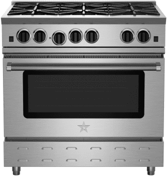 "BlueStar RNB Series RNB366BV2 - 36"" RNB Gas Range with 6 Open Burners"