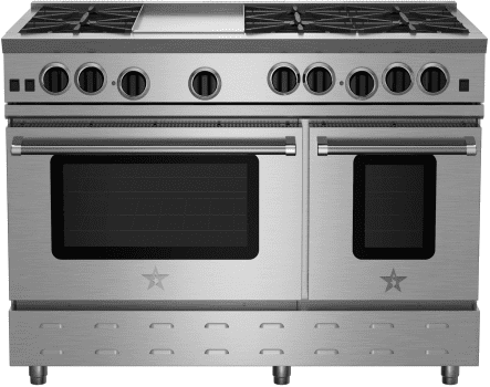 BlueStar RNB Series RNB488BV2 - Front View (photo does not represent cooktop configuration)