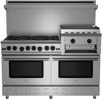 "BlueStar Heritage Classic Series RNB606GHCV2 - 60"" Heritage Classic Gas Range with 24"" Raised Griddle/Broiler"