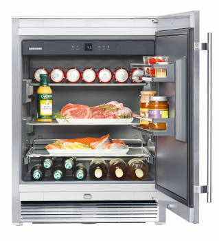 Liebherr RO510 - 3.7 cu. ft. Compact Refrigerator, 2 Glass Shelves, 2 Door Bins, Internal Digital Temperature Display